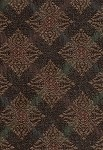 Galleria Leather Brown Gold Red Upholstery Fabric