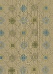 Yellow Blue Green Diamond Pattern Upholstery Fabric