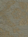 Garvis Glacier Victorian Style Ice Blue Tan Upholstery Fabric
