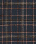 Percy Cobolt Navy Blue Green Plaid Upholstery Fabric