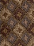 Triton Coin Sienna Brown Cream Diamond Pattern Upholstery Fabric