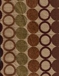 Hula Hoop Bolly Brown Maroon Cream Modern Upholstery Fabric