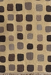 Mosiac Sahara Cream Brown Black Gray Square Design Upholstery Fabric