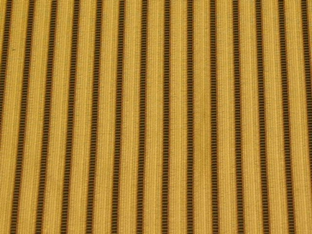 Navy Blue Gold Stripe Upholstery Fabric