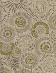 Modern Design Green Tan Yellow Upholstery Fabric