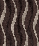 St Marks Toffee Brown Tan Wavey Stripe Modern Retro Upholstery