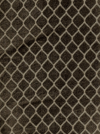 Brown Gold Diamond Pattern Upholstery Fabric