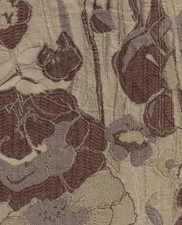 Kula Tussah Brown Gold Floral Upholstery Fabric