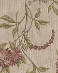 Becky Jane Bisque White Pink Floral Upholstery Fabric