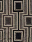 Modern Square Design Black Gray Upholstery Fabric