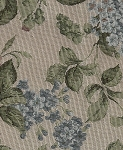 Sandhurst Quartz White Green Blue Floral Upholstery Fabric