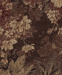 Tian Shan Mocha Brown Gold Tan Floral Upholstery Fabric