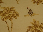 Palm Trees Monkey Upholstery Fabric