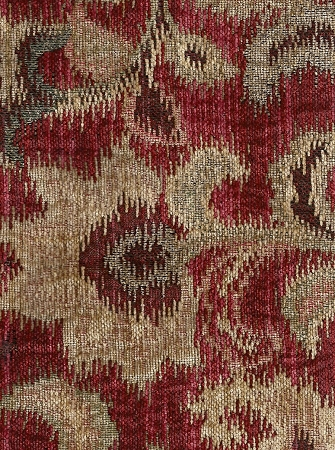 Kona Ember Red Gold Chenille Upholstery Fabric