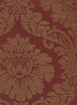 Victorian Style Maroon Gold Upholstery Fabric