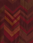 Red Maroon Gold Zigzag Stripe Sunset Upholstery Fabric