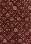 Alliance Rose Red Gold Cross Pattern Upholstery Fabric