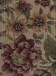 Popouri Red Green Purple Gold Floral Upholstery Fabric