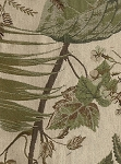 Coastline Palm Green Brown White Leaf Pattern Upholstery Fabric