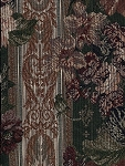 Bretagne Hunter Large Floral Stripe Upholstery Fabric