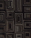 Black Gold Square Pattern Upholstery Fabric