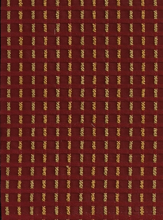 Bianca Claret Maroon Red Gold Check Stripe Upholstery Fabric