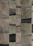 Melrose Platinum Black Tan Modern Upholstery Fabric