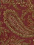 Goolrick Paisley Red Gold Green Upholstery Fabric