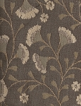 Iza Alpine Sea Green Floral White Upholstery Fabric