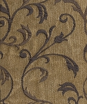 Edict Delft Mill Creek Tan Blue Vine Pattern Upholstery Fabric