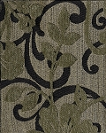 Keilanna Jade Swavelle Mill Creek Black Gold Gray Vine Pattern