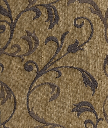 Edict Delft Mill Creek Tan Blue Vine Pattern Upholstery Fabric