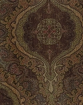 Helena Mocha Brown Green Victorian Style Upholstery Fabric