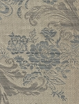 Valmontombre Wedgewood Blue Gray Floral Upholstery Fabric