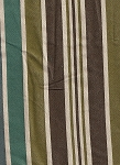 Amy's Stripe Brittany Teal Brown Ivory Upholstery Fabric