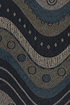 Black Blue Modern Design Upholstery Fabric