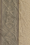 Ivory Gray Beige Panel Stripe Upholstery Fabric