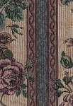 Large Floral Panel Stripe Upholstery Fabric
