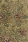 Gold Red Beige Floral Upholstery Fabric