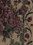 Sheridan Raspberry Floral Stripe Upholstery Fabric
