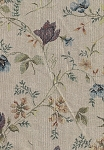 Medonte Fairy Ivory Blue Green Floral Upholstery Fabric