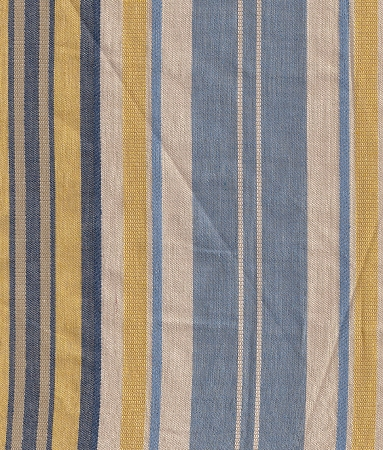 Oates Delft Yellow Ivory Blue Stripe Upholstery Fabric