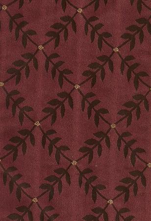 Maroon Black Vine Design Upholstery Fabric