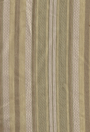 Lemonade Dove Yellow Tan Green Stripe Upholstery Fabric