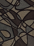 Overlap Shadow Gray Black Brown Upholstery Fabric