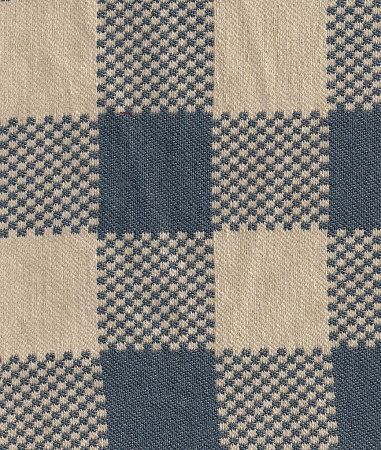 Arielinn Colonial Blue Ivory Check Upholstery Fabric
