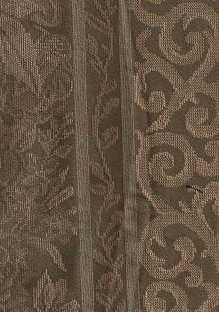 Green Beige Panel Stripe Upholstery Fabric