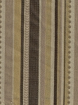 Vixen Taffy Brown Gold Stripe Upholstery Fabric