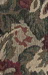 Green Maroon Beige Floral Upholstery Fabric