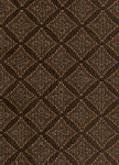 Fowler Brown Teal Diamond Upholstery Fabric